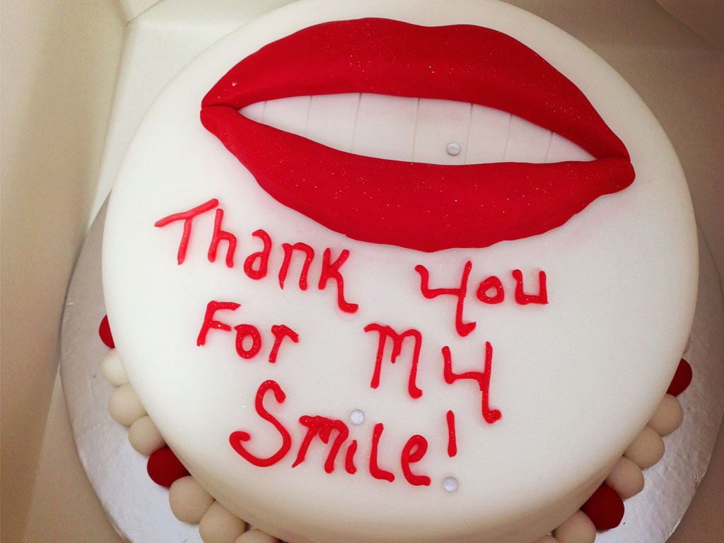 Dental Implant Patient Thankyou Cake